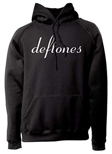 LaMAGLIERIA Unisex-Hoodie Deftones - Classic Logo White Print - Kapuzenpullover Rock, S, schwarz