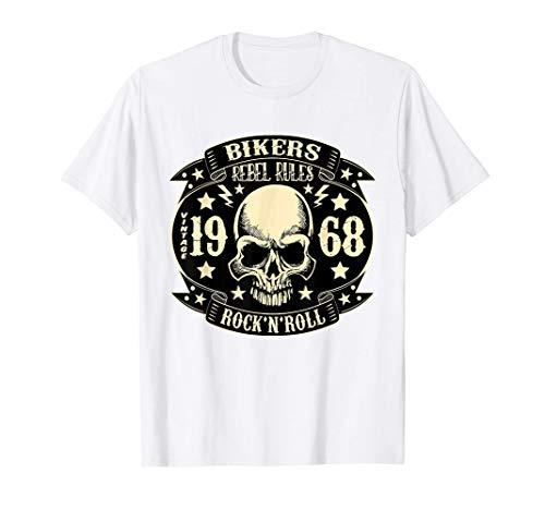 Rockabilly Hombre Mujer Ropa Calaveras Rock and Roll Moteros Camiseta