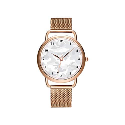 Dameshorloges merk dames mesh riem ultradun horloge waterdicht horloge kwartshorloge Kerstmis coole trendy girly faux glitter nautisch ankerhorloge