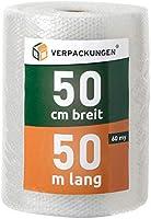 BB-Verpackungen® 805881 Luchtkussenfolie, 0,5 x 50 m - Dikte: echte 60 my, noppenfolie blisterfolie knalfolie...