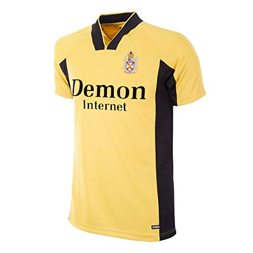 copa Fulham FC Retro Trikot Auswärts 1998/99 gelb-schwarz, XL