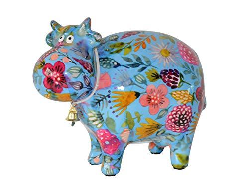 Pomme Pidou - Hucha, diseño de Vaca, Color Azul