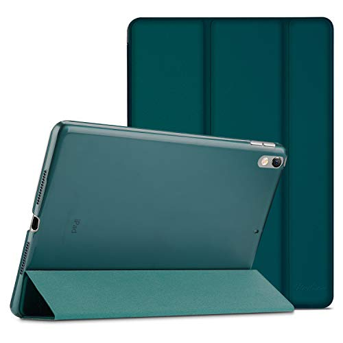 ProCase iPad Air (3rd Gen) 10.5' 2019 / iPad Pro 10.5' 2017 Case, Ultra Slim Lightweight Stand Smart Case Shell with Translucent Frosted Back Cover for Apple iPad Air (3rd Gen) 10.5' 2019 –Emerald
