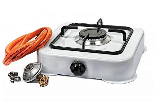 AOFENG Hornillo de gas para camping de 1 llama, cocina de camping