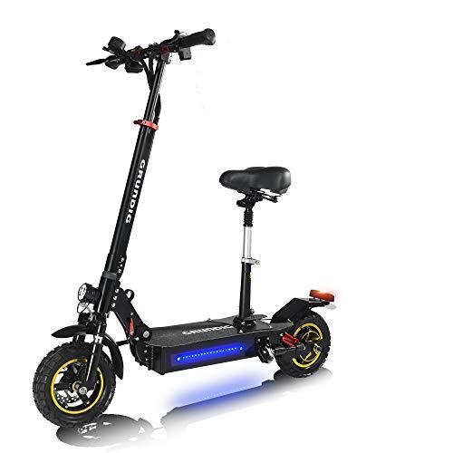 GRUNDIG Klappbares Elektro Scooter mit Sitz, E-Scooter mit 500W Motor, 45 Km Reichweite,10
