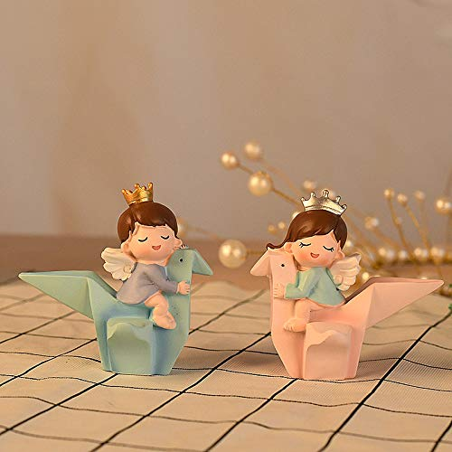 Ins Creative Birthday Cake Swings A Girl s Heart Pink Origami Crane Couple Tv Wine Cabinet Home Decorations A pair of thousand-paper cranes