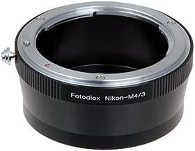 Fotodiox Pro Lens Mount Adapter, Nikon Lens to MFT Micro 4/3 Four Thirds System Camera Mount Adapter, for Olympus PEN E-PL1, E-PL1s, E-PL2, E-PL3, E-P2, E-P3, E-M, OM-D, E-M5, Panasonic Lumix DMC-G1, G2, G3, G10, GX1, GH1, GH2, GF1, GF2, GF3, GF5, Panasonic AG-AF100