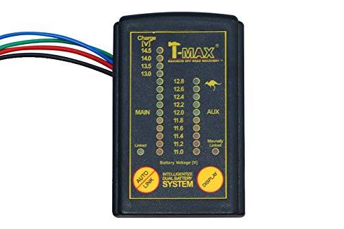 T-MAX Sistema conmutador de doble batería DBS02 con display digital