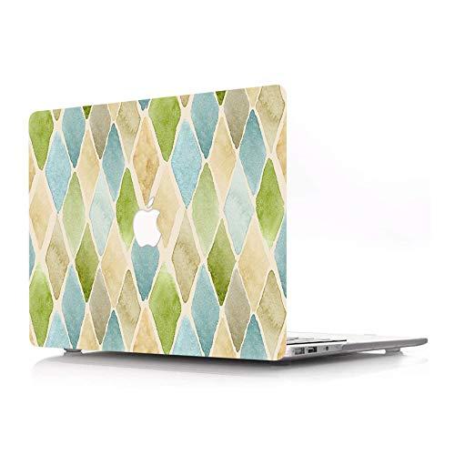 AJYX - Carcasa rígida de plástico solo compatible con MacBook Pro 13' (modelo: A1278, con CD-ROM) Release 2012/2011/2010/2009/2008, diseño de diamantes de colores