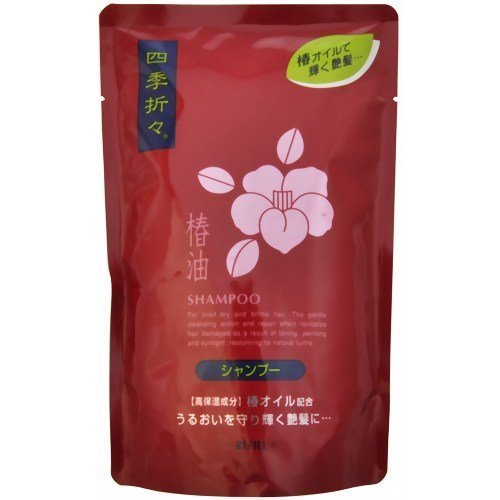 KUMANO YUSHI Shikioriori | Shampoo | TSUBAKI OIL Shampoo Refill 450ml (Japan Import) by KUMANO YUSHI