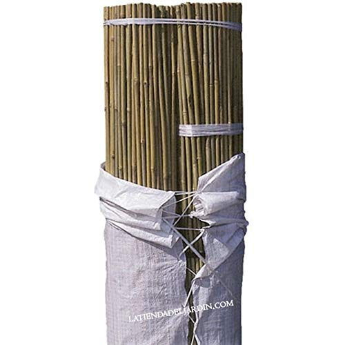 Suinga. 100 x TUTOR DE BAMBU 240 cm, diámetro 18-22 mm. Uso agrícola para sujetar árboles, plantas y hortalizas.