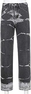 Personaggio femminile Tie-Dye High Waist Slim Jeans Jeans Diretti Donne