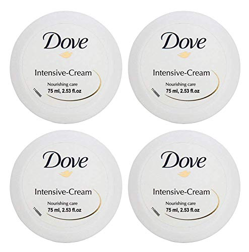 Dove Intensive Cream Nourishing Care Dry Skin Moisturizer 75ml 2.53oz (4-Pack)
