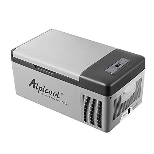 Yabuy DC12 / 24 V A 15 L Refrigerador de coche Congelador Caja de hielo Enfriador Compresor de nevera automático Pantalla de temperatura ajustable