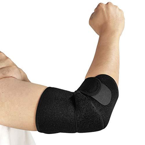 Vendaje de Codo Deportivo Sawpy - 1 Uds Almohadillas de Codo Transpirables para Baloncesto, Voleibol, Gimnasio, Ajustable, Almohadillas para Mangas de Brazo de Seguridad para Deportes