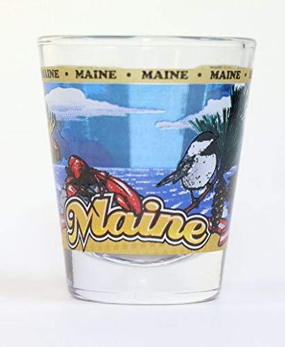 Maine State Wraparound Shot Glass