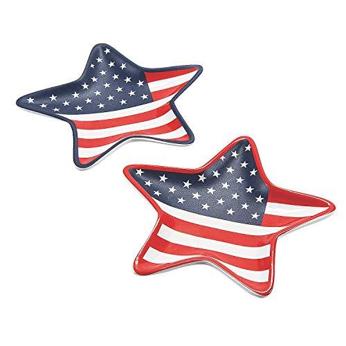 Mini American Flag Star Shaped Cera…