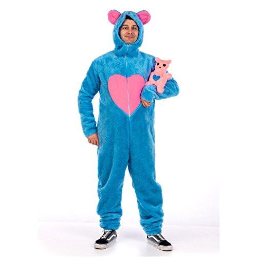 Disfraz oso azul Bisous adulto