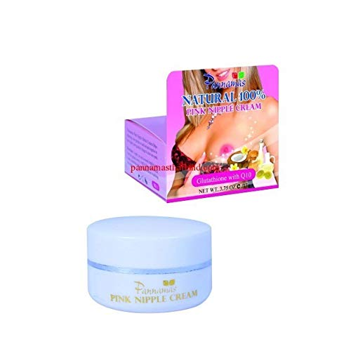 (2) NATURAL 100% PINK NIPPLE HERBAL CREAM WITH GLUTATHIONE Q10 –PANNAMAS BRAND