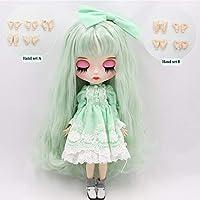 人形シリーズ4278ミント緑髪色彫唇メイト顔カスタマイズ顔の1/6 bjd