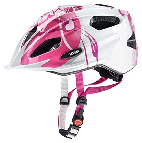 uvex Unisex Jugend, quatro junior Fahrradhelm, pink-silver, 50-55 cm