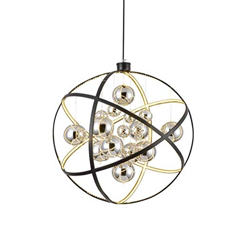 MJK Lámpara colgante moderna Creatividad LED Simplicidad Globo Lámpara de techo Restaurante Planet Starburst Iluminación colgante para dormitorio Cocina Sala de estar,blanco