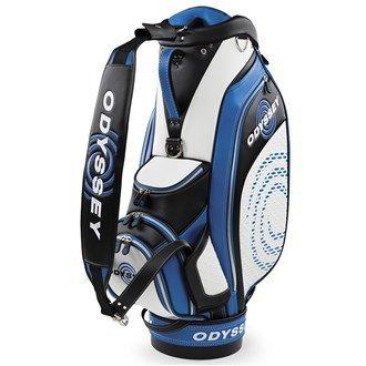 2016 Callaway Odyssey Works Cart Tour Bag Mens Golf Staff Bag-6 Way Divider White/Royal by Callaway