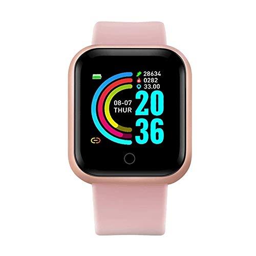 Smart Watch Men SmartWatch Android Blueta Presión Arterial Medición de la Ritmo cardíaco Ejercicio de monitoreo, Monsteramy (Color : D20 Pink)