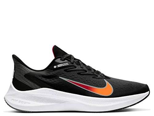 Nike Air Zoom Winflo 7 Running Shoe (Black/Gym Red/Smoke) 9...
