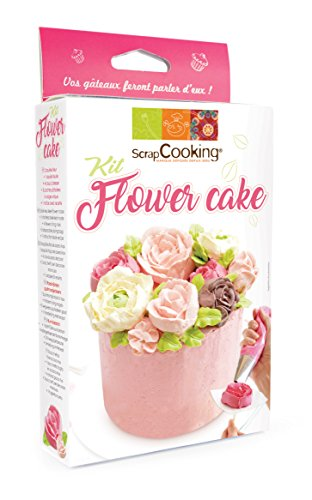 SCRAPCOOKING 3943 Kit Flower Cake, Acier Inoxydable, Multicolore, 21 x 13 x 3,5 cm