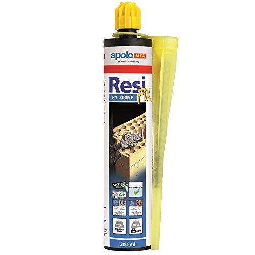 Apolo Mea 300Psf - Taco Químico Poliester Sin Estireno Tipo Resifix Py 300 Sf,2 Cánulas, 1 Unidad