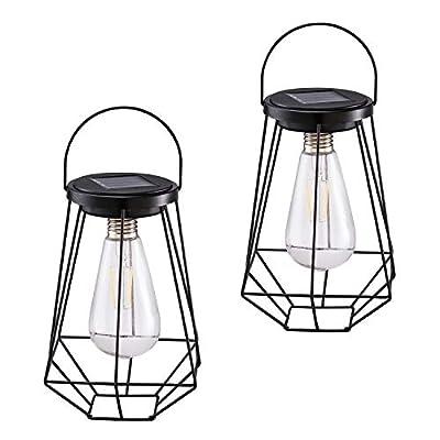 Solar Lanterns Outdoor 2 Pack