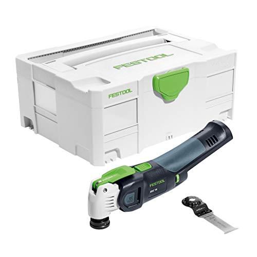 Festool Oscilante de batería OSC 18 Li E-Basic. Fabricante 574848, Negro y verde