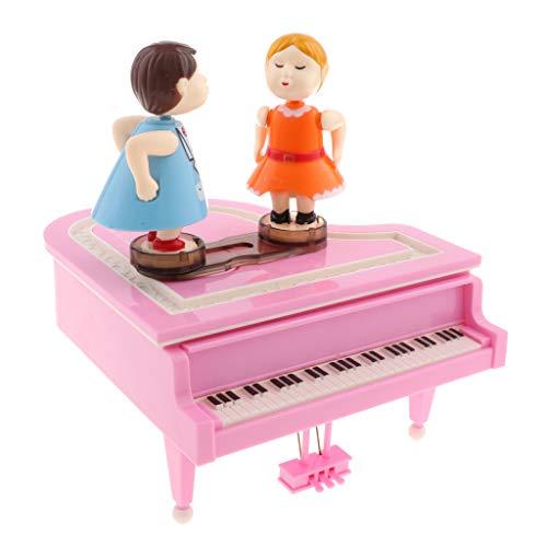 KESOTO Klassische Liebespaar auf der Klavier Spieluhr Mechanische Spieldose Musikbox Dekoration - Rosa