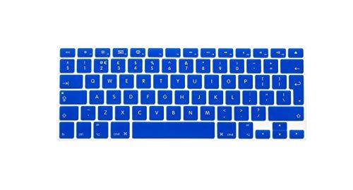 for MacBook Air Pro Retina 13' 15' 17' European Keyboard 2013 2014 2015 EU/UK English Silicone Keyboard Skin Cover-EU Dark Blue