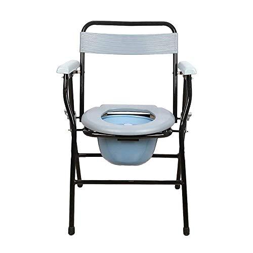 LHQ-HQ Familie Ältere Schwangere Frau WC-Bedside WC/Bad Stuhl/WC Stuhl/WC Stuhl Stahlrohr Leichte Faltbare Weiß Gilt for ältere Menschen, Behinderte, Schwangere Frauen
