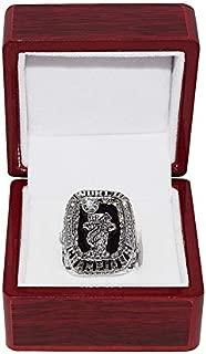 MIAMI HEAT (Lebron James) 2012 NBA FINALS WORLD CHAMPIONS Collectible High-Quality Replica NBA Basketball Silver Championship Ring with Cherrywood Display Box