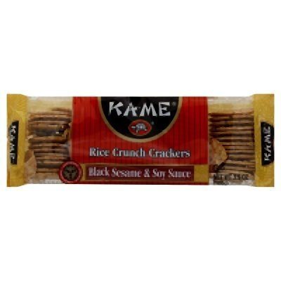 Columbus Mall Ka-me Rice Crunch Cracker Black 3.5-Ounce Animer and price revision And Sesame Soy Sauce