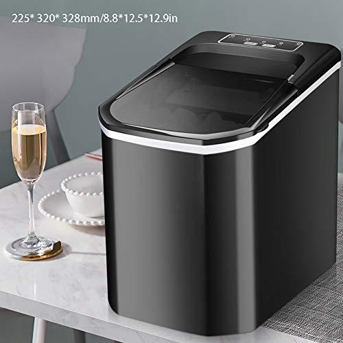 Kleine Mini ijsblokjesmachine 8 minuten om snel Ice Huis slaapzaal Commercial Koude Drank IJsmachine,Black