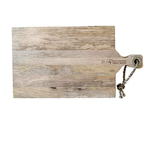 Kaemingk Schneidebrett Brett Holz Mangoholz Jausenbrett Käsebrett Servierbrett Küchenbrett zum Hängen L 48 cm