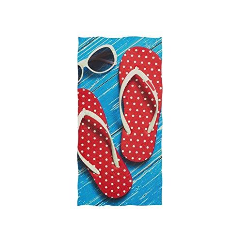 Polka Dot Flip Flop Toallas Baño Uso Diario Toalla De Playa Lujoso Toallas De Baño Impreso Toalla De Piscina