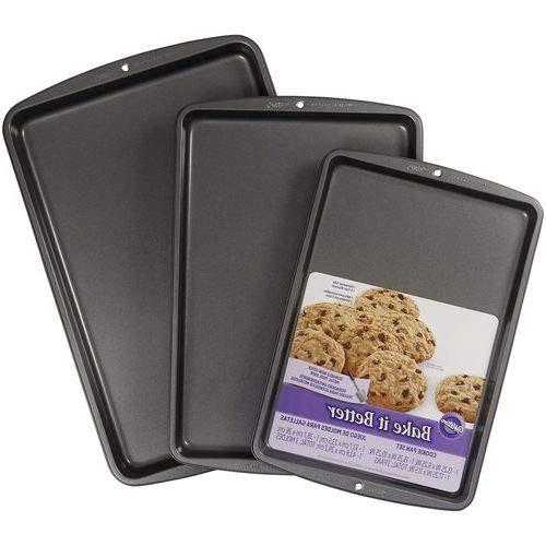 OKSLO Bake it higher 3-piece cookie sheet pan set, 2105-0197