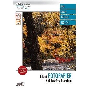 Schwarzwald Mühle A3 Papier: 125 Bl. Inkjet Fotopapier Premium matt 160 g/m² A3 (Fotopapiere DIN A3)