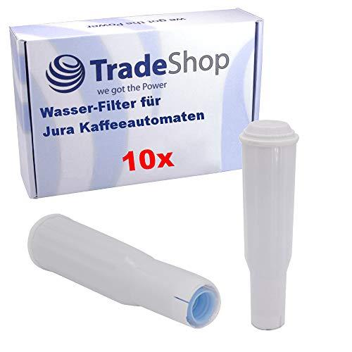 Trade-Shop 10x Wasser-Filter für Jura Impressa S50 S55 S70 S75 S85 S90 S95 F5 F7 F9 F50 F55 F70 F85 F90 / Filterpatrone ersetzt Jura Claris White 60209 68739