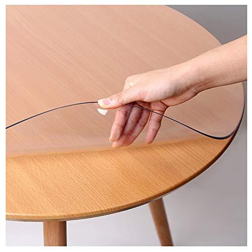 LCAIHUA-Mantel Transparente Mantel Protector Mesa Cristal, Protector de Mesa Transparente PVC Mantel Impermeable Lavable 1mm (Color : Clear, Size : 110CM)