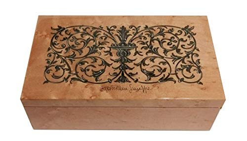 Inlaid wood jewelry box 17.5x10 cm