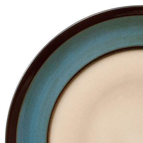 Gourmet Basics Belmont Round Blue Stalks Dinnerware Set (32 Piece)