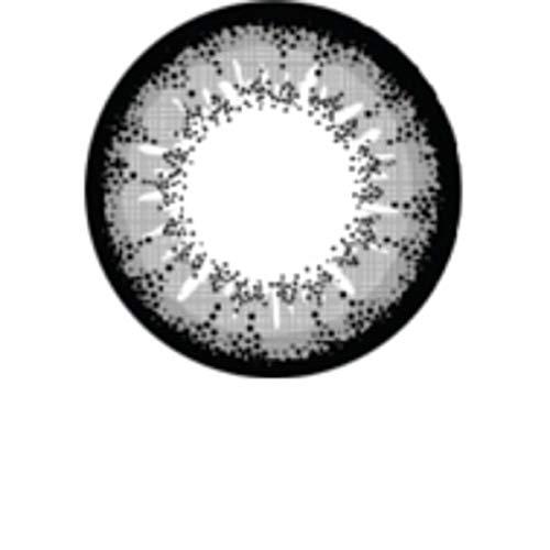 Matlens - Pro Trend Farbige Kontaktlinsen ohne Stärke Extra Nudy XPC-205 grau Big Eyes 2 Linsen 1 Kontaktlinsenbehälter 1 Pflegemittel 50ml