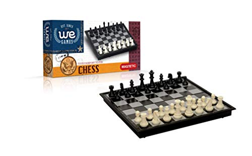 Wood Expressions WE Games Travel Size Foldable Magnetic Chess Set