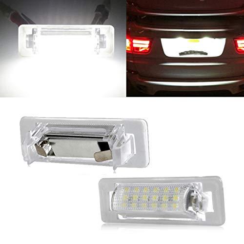GOFORJUMP 2pcs For M/ercedes B/enz W210 W202 E300 E55 C230 C43 AMG Sedan Facelif License Plate LED Light Canbus No Error White